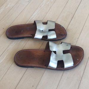 Santorini gold sandals